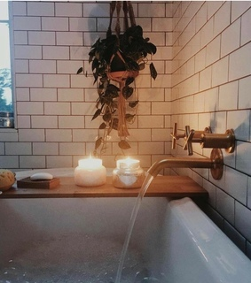 candles, plants and cute