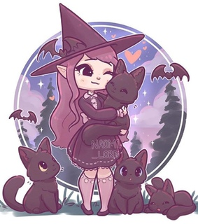 cats, witch and halloween