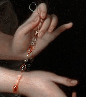 1700s art, delicate and hands