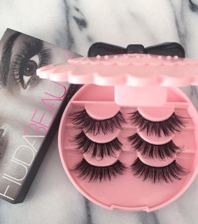 falsies, pink and huda