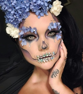 halloween party, girl and makeup