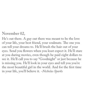 life, text and nicholas sparks