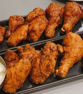 fried chicken, bonchon and fried food