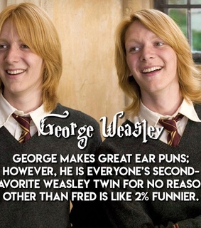 movies, george weasley and quotes