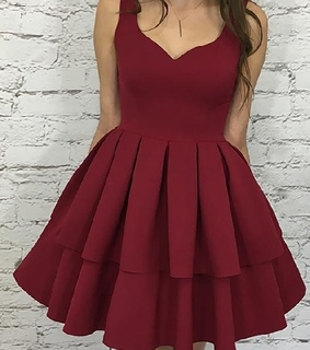 a line homecoming dress, burgundy homecoming dress and cheap homecoming dress