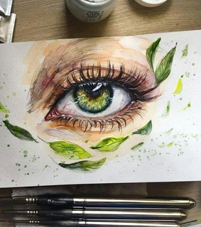 green, girl drawing and painting