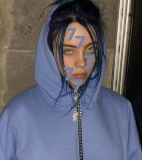billie eilish, billie and 1 by 1