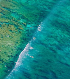 turquoise, drone photography and ocean