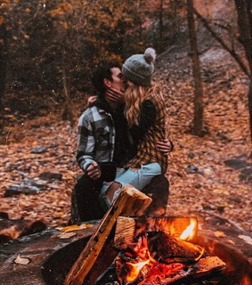 couple, woods and kissing