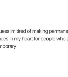 trust, feelings and permanent