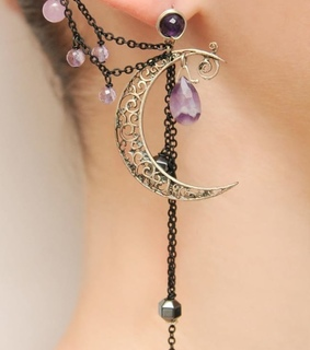 silver, fairies and amethyst