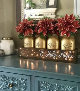 christmas, ideas and gold