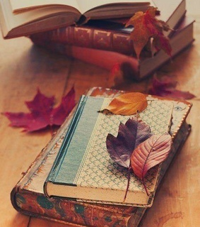 reading, autumn and leaves