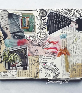 collage, sketchbook and art journal