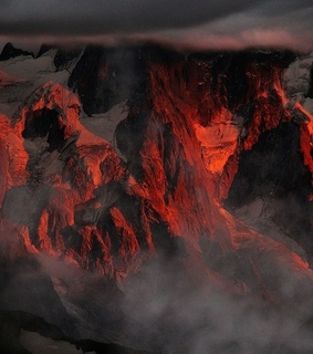 mountains, fire and brimstone
