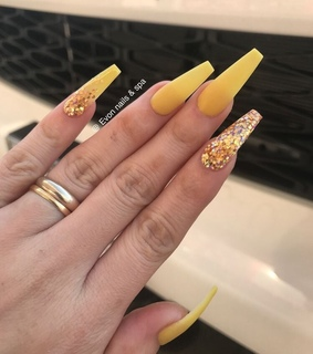 nails, aesthetic and long nails