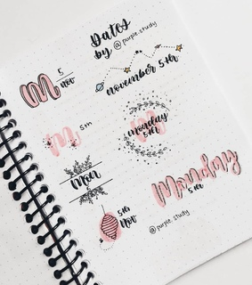 schedule, lettering and bullet journaling