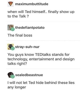 ted, hilarious and text post