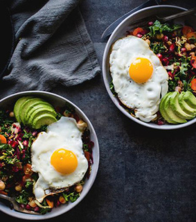 workout motivation, health and fitness and salad bowl