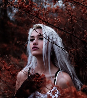 blonde, nature and white hair