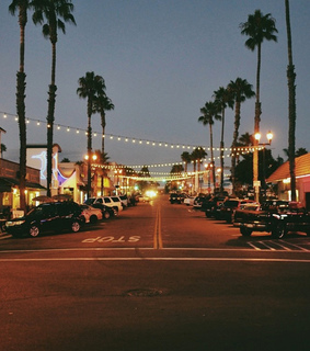 california, street and lights
