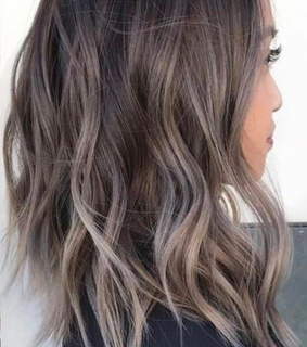 ombre, girl and curly