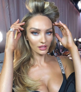 candice swanepoel, famous and vs angel