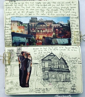 moleskine journal, journaling and love story