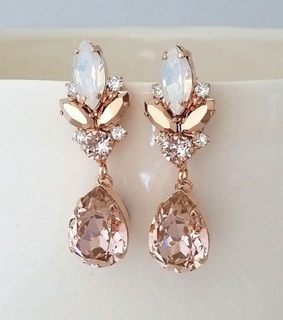 earrings, jewerly and rosegold
