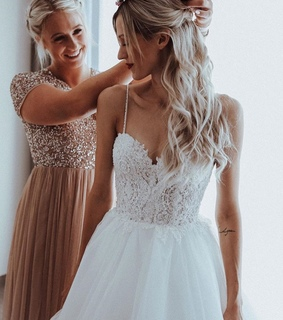 bridesmaids, beauty and dress