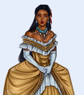 fashion, ball gown and pocahontas