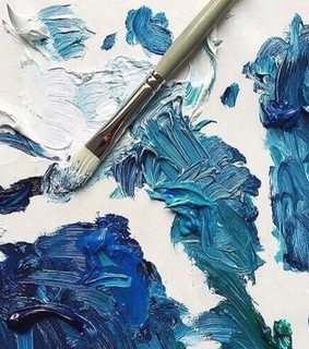 painting, art aesthetic and blue aesthetic