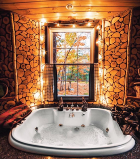 bathroom, thanksgiving and rustic