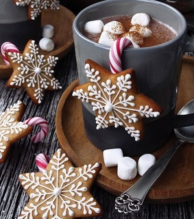 winter, delicious and candy canes