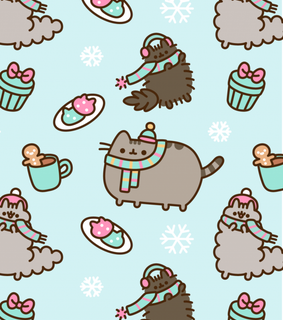 pusheen, pusheen cat and winter wallpaper