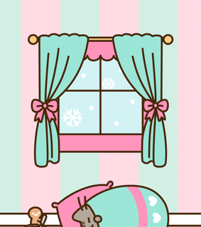 background, winter wallpaper and pusheen cat