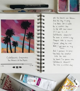 inspiration, journal and california