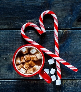 candy, candy canes and christmas