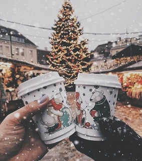 christmas is in the air, coffee and love