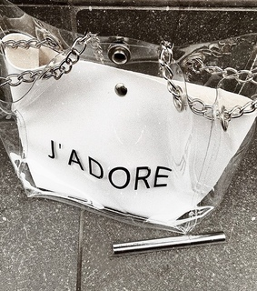 cosmetics, style and see through bag