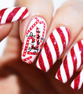 candy canes, christmas and nails