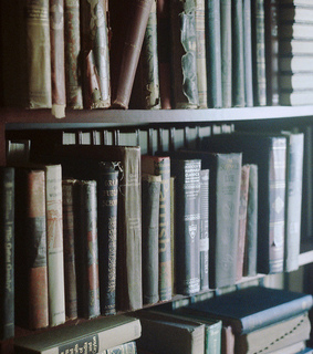 rustic, vintage and old books