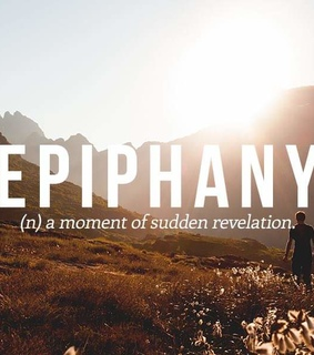 one word, epiphany and describe