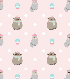 pusheen wallpaper, winter and wallpaper