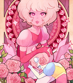 pink diamond, pearl and steven universe