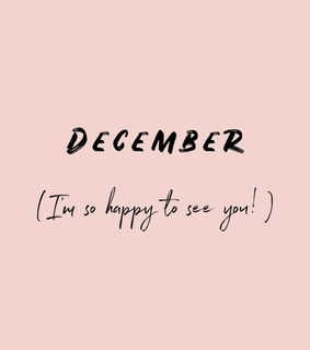 welcome, december and month