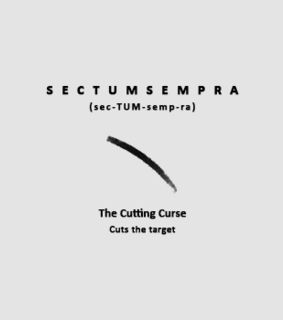 the cutting curse, spell and sectumsempra