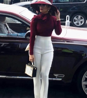 business woman, style and white pants