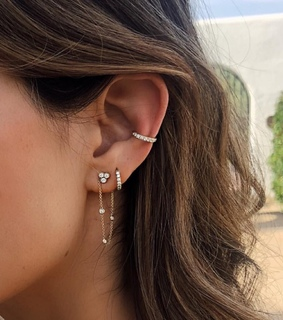 mickey, conch and piercings
