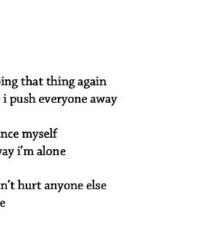 alone, again and depressed